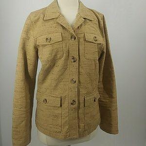 CAbi unlined cotton safari jacket-sz 8